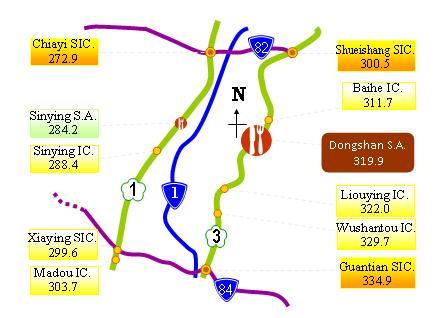 Dongshan Service Area Map